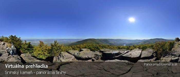 Sninský kameň - panoráma Sniny