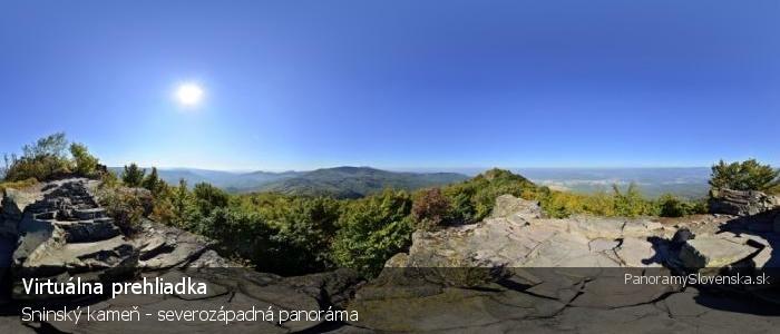 Sninský kameň - severozápadná panoráma