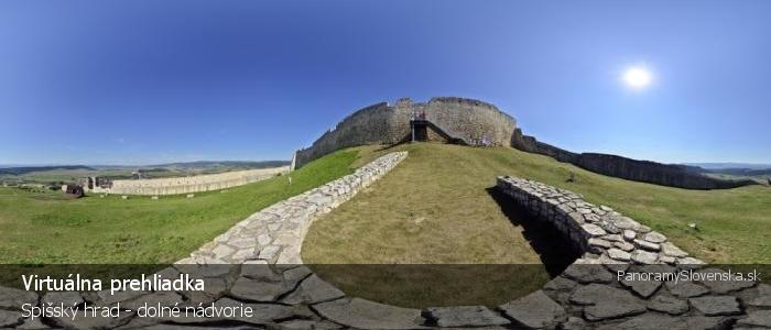 Spišský hrad - dolné nádvorie
