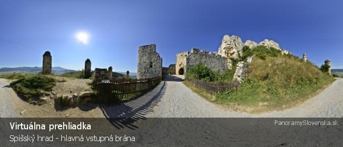 Spišský hrad - hlavná vstupná brána