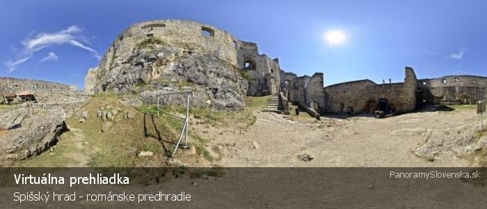 Spišský hrad - románske predhradie