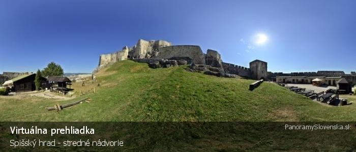 Spišský hrad - stredné nádvorie