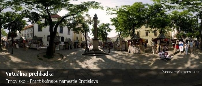 Trhovisko - Františkánske námestie Bratislava