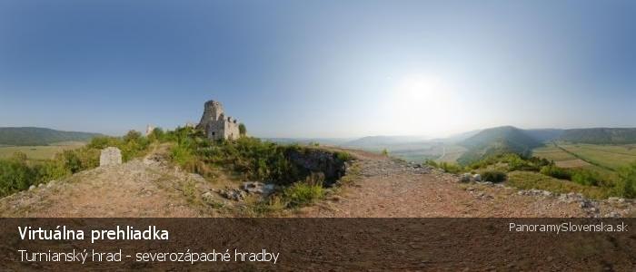 Turniansky hrad - severozápadné hradby