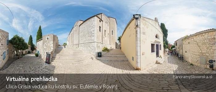Ulica Grisia vedúca ku kostolu sv. Eufémie v Rovinj