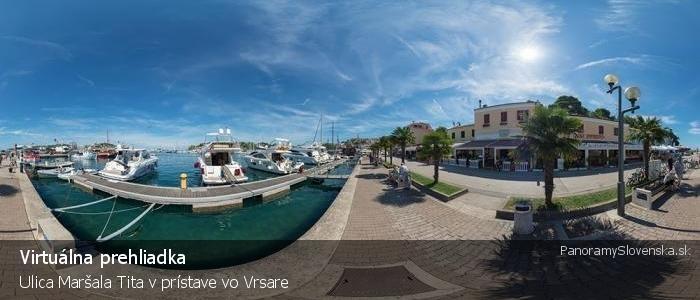 Ulica Maršala Tita v prístave vo Vrsare
