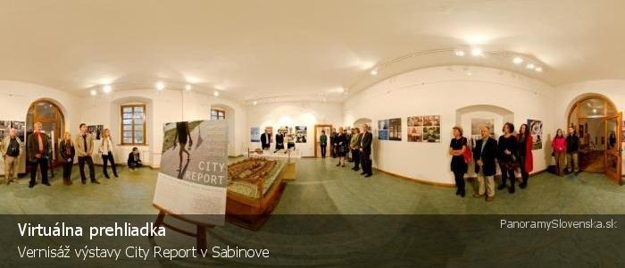 Vernisáž výstavy City Report v Sabinove