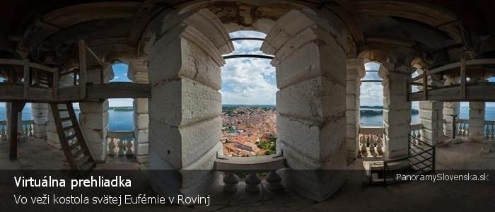 Vo veži kostola svätej Eufémie v Rovinj