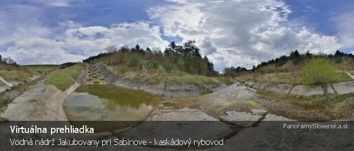Vodná nádrž Jakubovany pri Sabinove - kaskádový rybovod