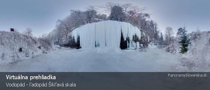 Vodopád - ľadopád Šikľavá skala