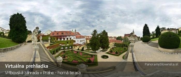 Vrtbovská záhrada v Prahe - horná terasa