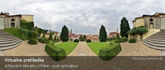 Vrtbovská záhrada v Prahe - pod vyhliadkou