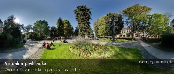Zvonkohra v mestskom parku v Košiciach
